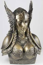 bustestatue of a norse valkyrie